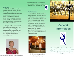 dance ministry page 1